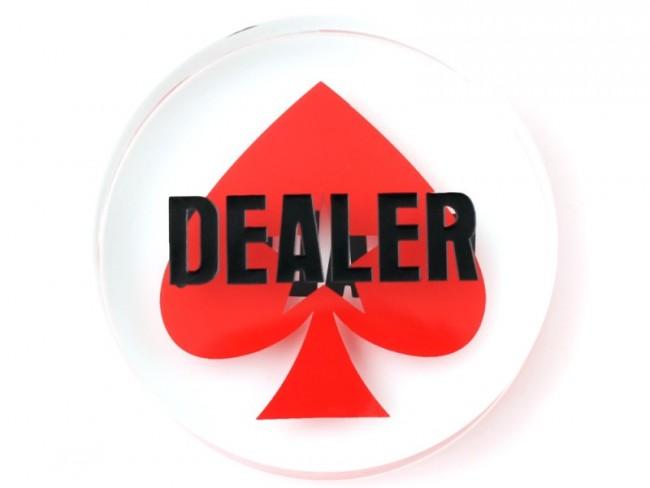 Dealer Button van Kristal Met Pokerstars Logo - Nederlands