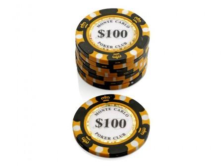 Monte Carlo Poker Club Pokerchip $ 100
