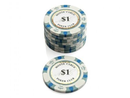 Monte Carlo Poker Club Pokerchip $ 1