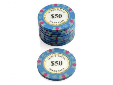 Monte Carlo Poker Club Pokerchip $ 50