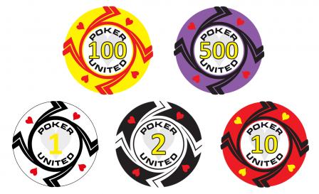 Keramische Hearts Poker United Pokerset 500