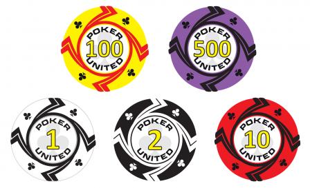 Keramische Clubs Poker United Pokerset 1000