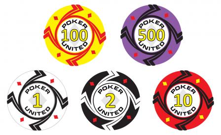 Keramische Diamonds Poker United Pokerset 1000