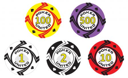 Keramische Spades Poker United Pokerset 1000