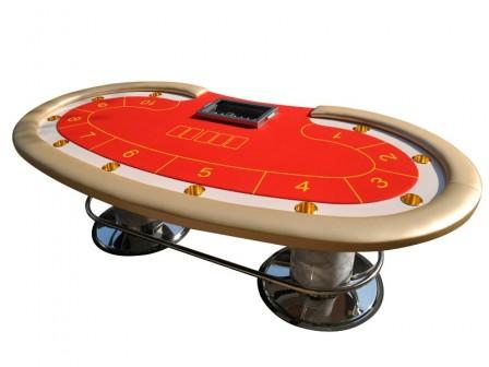 Exclusieve Casino Cashgame Bean Pokertafel Goud
