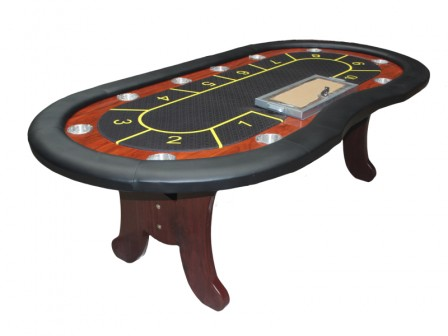 Casino Cashgame Pokertafel Royal Flush Zwart