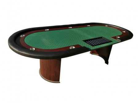 Cashgame PokerTafel Combo Green Met Chiptray