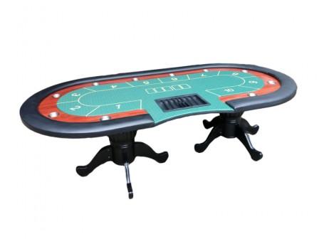 Luxe Cashgame Pokertafel Straight Flush Groen