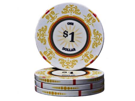 Keramische Venerati Poker Chip $ 1