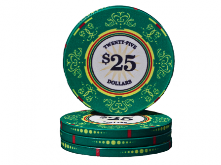 Keramische Venerati Poker Chip $ 25