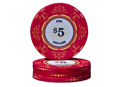 Keramische Venerati Poker Chip $ 5