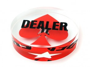 Dealer Button van Kristal Met Pokerstars Logo