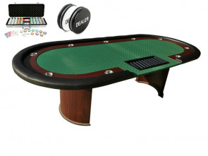 Pokertafel Met Pokerset Van 500 Pokerchips