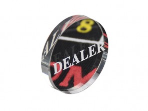 Doorzichtige Dealer Button Van Acryl