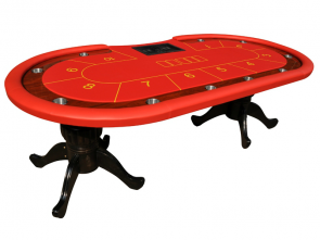 Luxe Cashgame Pokertafel Straight Flush Rood
