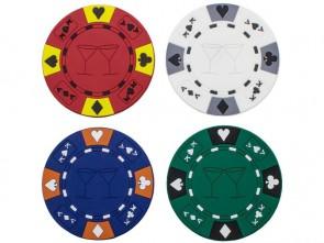Onderzetters In De Vorm Van Een Pokerchip