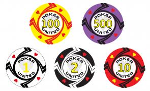 Keramische Hearts Poker United Pokerset 1000