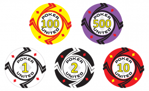 Keramische Diamonds Poker United Pokerset 1000