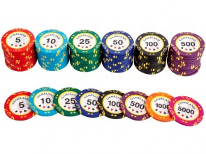 Pokerset Royal Flush Pokerchips 1000