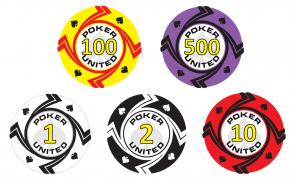 Keramische Spades Poker United Pokerset 500
